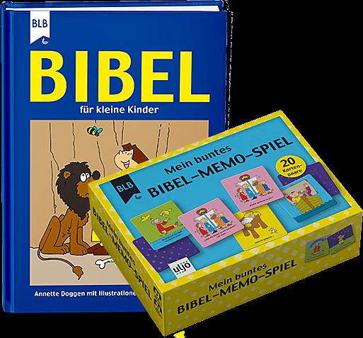 Bibel-Memo-Spiel + Bibel im Paket