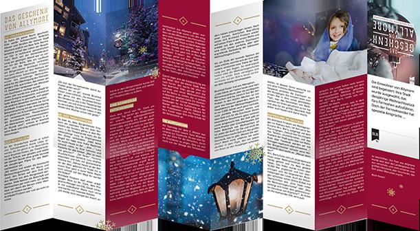 Das Geschenk von Allymore - Weihnachtsflyer für Erwachsene